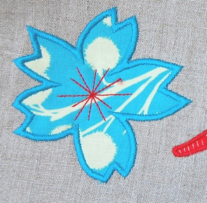 Picture of Japanese Sakura Flower Applique