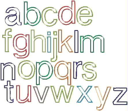 picture of basic alphabet appliques picture of basic alphabet appliques