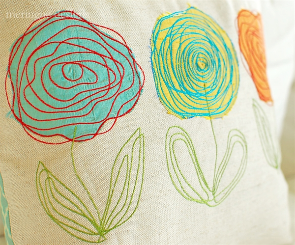 Meringue designs scribbled roses appliques