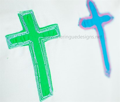 Picture of Scribbled Cross Applique