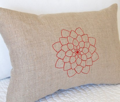 Picture of Zinnia Redwork