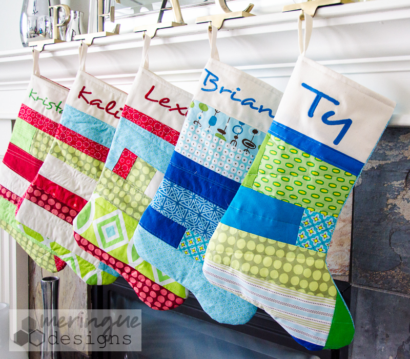 Home / Sewing Patterns / Patchwork Christmas Stockings Pattern