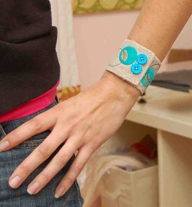 Picture of Big Dots Fabric Bracelet