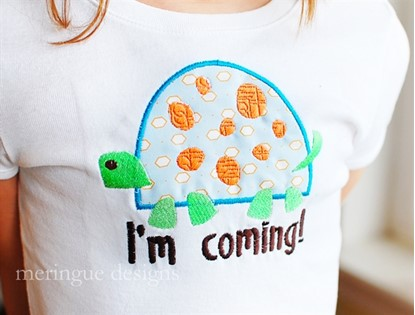 Picture of Turtle Applique & Outline