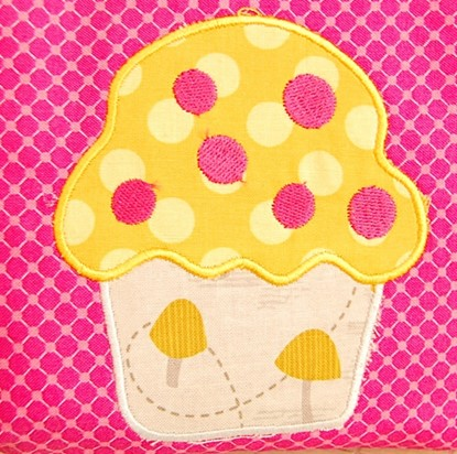 Picture of Cupcake Applique with Sprinkles